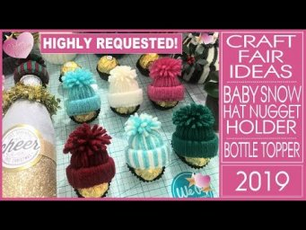 Craft Fair Ideas 2019 - DIY Baby Snow Hat Nugget Holder -  Inexpensive Christmas Gifts