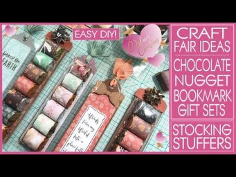 Craft Fair Ideas 2019 - Chocolate Nugget Bookmark Gift Sets - Stoking Stuffers - Christmas Crafts