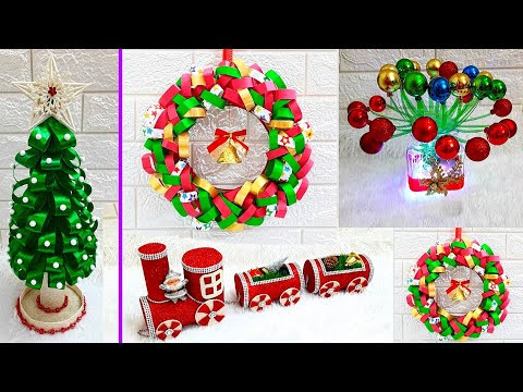 Economical 4 Easy Christmas Craft idea | Best out of waste Low budget Christmas craft idea (Part 24)