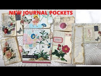 NEW POCKETS WITH FLIP DOWN/UP JOURNALING SPOTS ~ MAKE ANY SIZE EASY AND QUICK