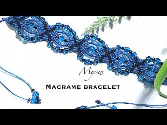MACRAME BRACELET WITH BEADS TUTORIAL- DIY- MYOW 160