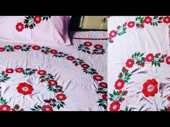 Top Class Hand Embroidered Bed sheets Designs 2021