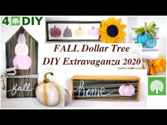 4 Modern Farmhouse FALL Dollar Tree DIY Extravaganza 2020 / MomDas Life Handmade