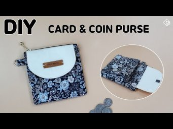 DIY CARD PURSE/ COIN PURSE/ Mini Wallet/ sewing tutorials [Tendersmile Handmade]