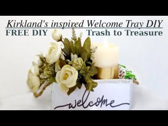 Kirkland's Inspired Modern Farmhouse Welcome Tray with Jute Handles Decor DIY #WithMe for FREE