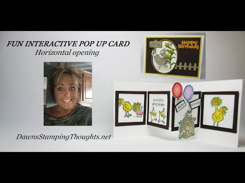 AMAZING INTERACTIVE POP UP CARD with Horizontal Opening
