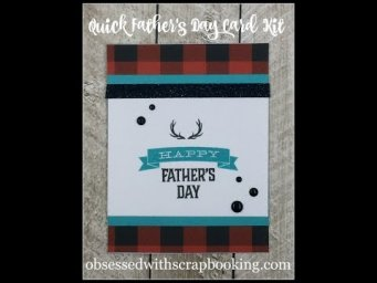 Make a quick Father's Day Card