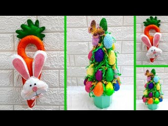 2 Economical Easter Craft made with waste materials |DIY Low budget Easter décor idea (Part 10)