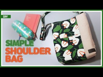 DIY/ SIMPLE SHOULDER BAG/ 쉽고 간단한 숄더백 만들기/CROSS BAG/ 크로스백 겸용/ sewing/ tutorial [Tendersmile Handmade]