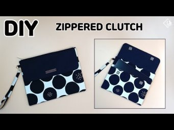 DIY ZIPPERED CLUTCH/ Tablet Zipper pouch/ sewing tutorial [Tendersmile Handmade]