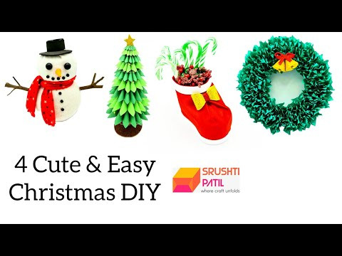 4 Easy to Make Christmas DIY Tutorials by Srushti Patil