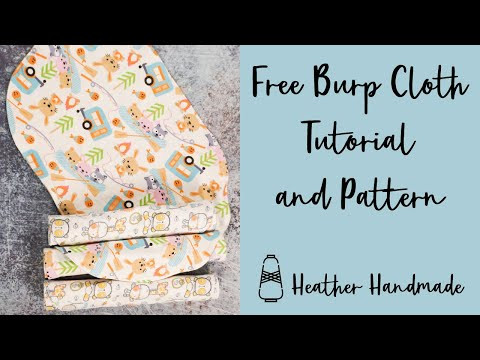 DIY Baby Burp Cloth Tutorial with a Free Sewing Pattern - Perfect Baby Gift!
