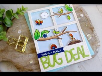 A Bug Deal Card | Copic Coloring | Lawn Fawn