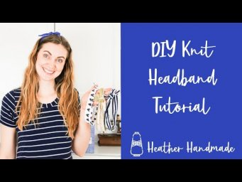 DIY Knit Headband Tutorial - Great Scrap Fabric or Upcycle Project