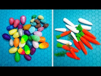 Easter Egg and Carrot made with waste Styrofoam step by step at home | DIY Easter décor idea