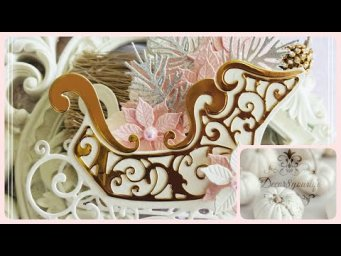 Christmas Sleigh Treat Box Tutorial | Amazing Paper Grace by Becca Feeken | #SpellbindersClubKits