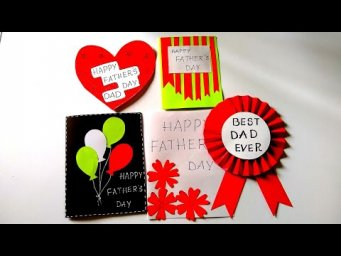 5 Easy FATHER'S DAY CARDS for KIDS | Tutorial