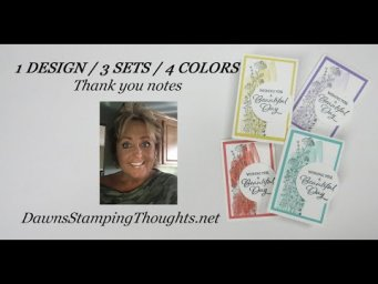 1 DESIGN 3 STAMP SETS 4 COLORS = Thank You Notes