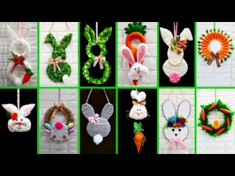 12 Economical Easter wreath with waste materials |DIY Low budget Easter/spring decor idea (Part 1)