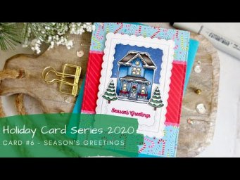 Holiday Card Series 2020 #6 | Copic Coloring | Sunny Studio