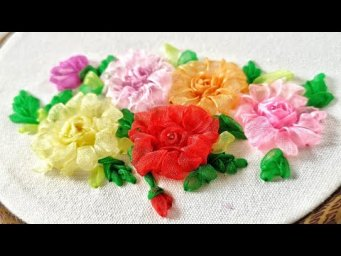 Hand Embroidery - Ribbon Flowers