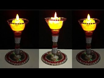 DIY-Tealight holder made from waste Plastic Bottle| Christmas/home decoration ideas