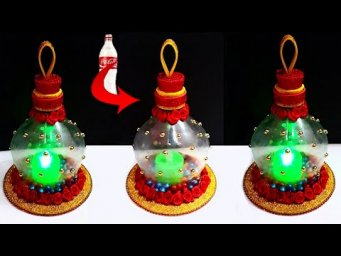 How to make Tealight holder/Showpiece  from Plastic Bottle| DIY home decoration ideas