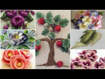 64-Hand Embroidery / Stump Work / 3D Flower Embroidery / Brazilian Embroidery
