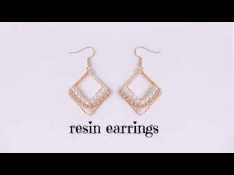 How to make wire frame resin earrings/beautiful pearl earrings using resin and wire frame/#UVresin