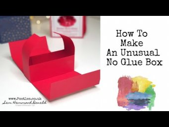 *HOW TO TUTORIAL* An Unusual No Glue Box *CRAFT DIY*