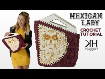 "Tutorial borsa uncinetto ""Mexican Lady"" - Wooden Crochet Bag ♡ Katy Handmade"