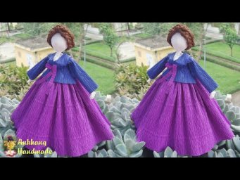 Crepe paper Korean doll tutorial | DIY making paper doll at home , home decoration idea