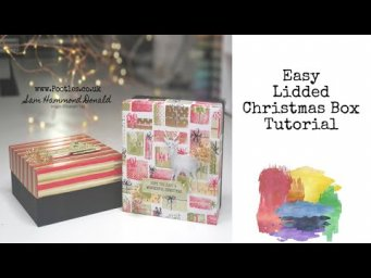 *CRAFT DIY HOW TO* A Beautiful Lidded Gift Box *TUTORIAL*