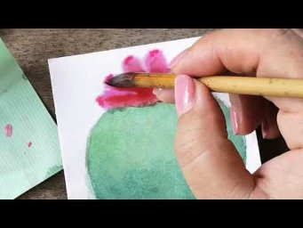 Easy Simple Cactus Watercolor Painting