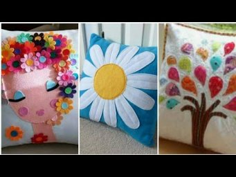 Hand Embroidery: Aplic work cushions designs / Patch work cushion cover / Rilli work / Applique work