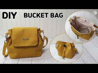 DIY COVERED BUCKET BAG/ SHOULDER & CROSS BAG/ Make a bag / sewing tutorial [Tendersmile Handmade]