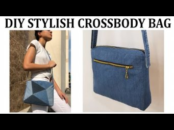 DIY BAG/PATCHWORK JEANS CROSSBODY BAG/JEANS BAG/RECYCLE JEANS IDEAS/DIY Upcycling Tasche/ジーンズバッグ DIY