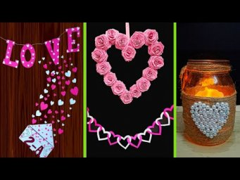4 Valentine day craft idea made for room decoration | DIY valentine day Craft ideas