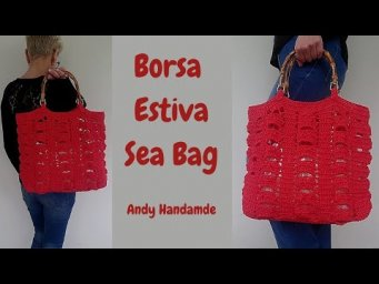 TUTORIAL BORSA MARE  Uncinetto Facile Andy Handmade