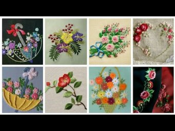 Latest Hand Embroidery Designs / Beautiful Hand Embroidery Designs /  Flower  Embroidery Design