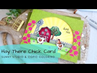 Hey There Card | Sunny Studio 5th Birthday Hop + GIVEAWAY and an ANNOUNCEMENT
