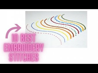 10 Best  Hand Embroidery Stitches for beginners. Malayalam tutorial 16.