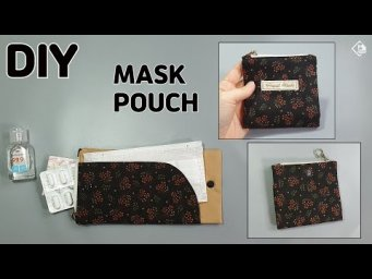 DIY MASK POUCH/ Easy to make Mask Holder/ Coin purse/ sewing tutorials [Tendersmile Handmade]