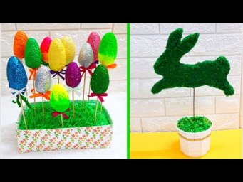 2 Economical Easter craft made with waste materials |DIY Low budget Easter décor idea (Part 8)