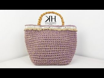 "TUTORIAL BORSA DA MARE A UNCINETTO - ""Hindi"" Crochet Summer Bag ♡ Katy Handmade"
