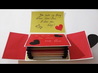 Beautiful Handmade Card Idea for Boyfriend | Special card for Boyfriend I Valentines day card