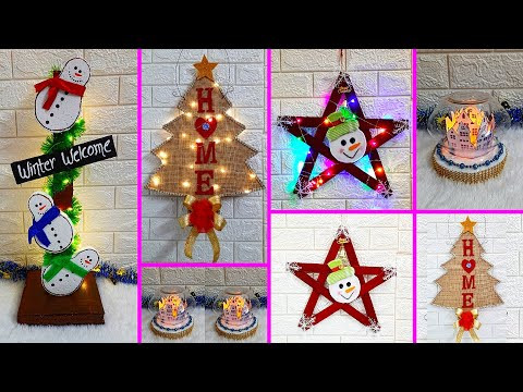 Economical 4 Easy Christmas Craft idea | Best out of waste Low budget Christmas craft idea (Part 10)