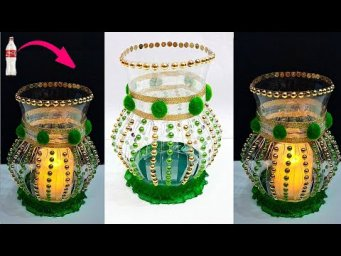 DIY Handmade Tealight holder/lampshade made with Plastic Bottle| DIY home decoration ideas
