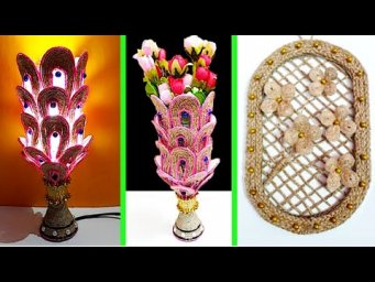 2 Easy Craft made with waste plastic bottle and Jute rope| Best out of waste room decoration idea