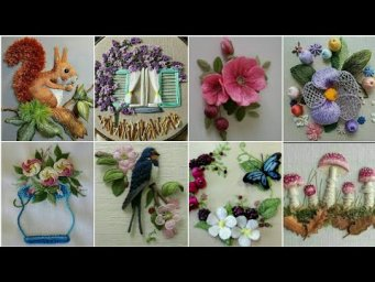 Beautiful Hand Embroidery 3d Flower Design Ideas 2020 / Stump Work / Hand Embroidery Designs